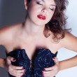 Brunette in a corset — Stock Photo #12943928
