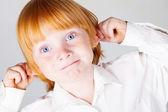 Red hair boy — Stock Photo