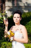 Braut outdoor portrait — Stockfoto