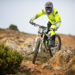 Mountain bike rider - Stock Photo