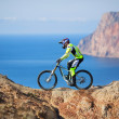 Mountain bike rider — Stock Photo #20756083