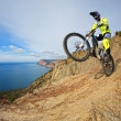 Mountain bike rider — Stock Photo