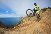 Coureur de vélo de montagne — Photo