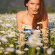 Girl on the meadow — Stock Photo #21147417