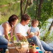 Family on picnic — Foto de Stock