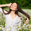 Girl on the meadow - Foto Stock