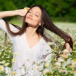 Girl on the meadow - Stock fotografie