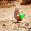 Child on the beach — Stock Photo