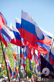 Russia flags in Sevastopol — Stock Photo