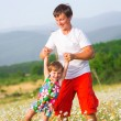 Father playing with daughter — Stock Photo