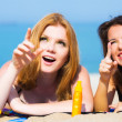 Girlfriends on the beach — Stock Photo #27753811