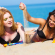 Girlfriends on the beach — Stock Photo #27753827