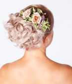 Bride hairstyle — Stock Photo