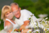 Couple on the meadow — Stock Photo
