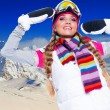 Stock Photo: Beautiful woman on the ski resort