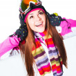 Girl in winter clothes — Stock Photo