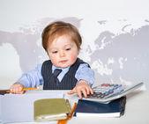 Little businessman — Stock Photo