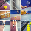 Tennis collage — Stock Photo