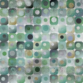 Teal circle and square grunge texture — Stock Photo