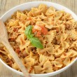 Farfalle with ragout — Stock Photo