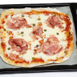 Pizza with cooked ham — Stock Photo