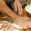 Making pizza — Stock Photo