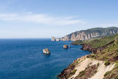 Coast of Sulcis, in Sardinia — Stock Photo