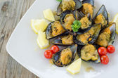 Stuffed Mussels — Stock Photo