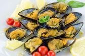 Stuffed Mussels — Stock Photo