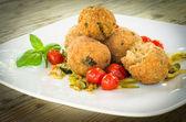 Fried meatballs — Stock Photo