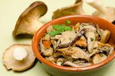 Mushroom salad — Stock Photo