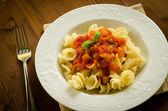 Gigli with tomato sauce — Stock Photo