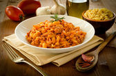 Malloreddus with ragout, sardinian cuisine — Stock Photo