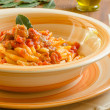 Malloreddus with sausage and tomato sauce, Sardinian Pasta — Stock Photo #46017533