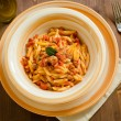 Malloreddus with sausage and tomato sauce, Sardinian Pasta — Stock Photo #46105083