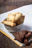 Purim Hamantaschen cookies — Stock Photo