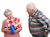 Grandmother and grandfather together — Stock Photo