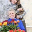 Grandma with graddaughter — Stock Photo #8885039