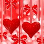 Two read hearts — Stock Photo #8917001
