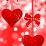Two read hearts — Stock Photo #8917005