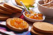 Jam for breakfast — Stock Photo