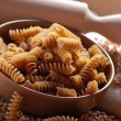 Stock Photo: Whole wheat fusilli pasta