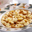 Tortellini in broth - Stockfoto