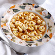 Tortellini in broth — Stock Photo