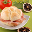 Bologna sandwich — Stock Photo