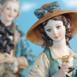 Statues of porcelain capodimonte — Stock Photo