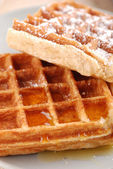 Belgium waffles — Stock Photo