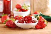 Strawberry jam — Stock Photo