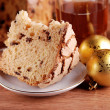 Panettone, food craft — Stock Photo