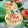 Rice with pomegranate seeds — Stock Photo